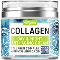 Maryann Organics Collagen Cream - Anti Aging Face Moisturizer - Day & Night - Made in USA - Natural Formula with…