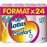 Lotus, Carta igienica Comfort con rotolo biodegradabile gettabile nel WC Aqua Tube, 24 pz.