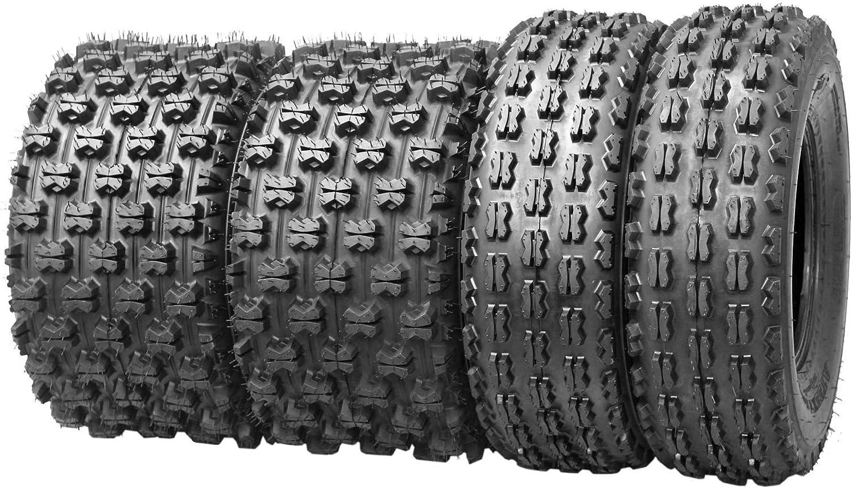 Set of 2 Qind ATV//UTV Tires Rear 21x7-10 4 Ply Load B Tubeless
