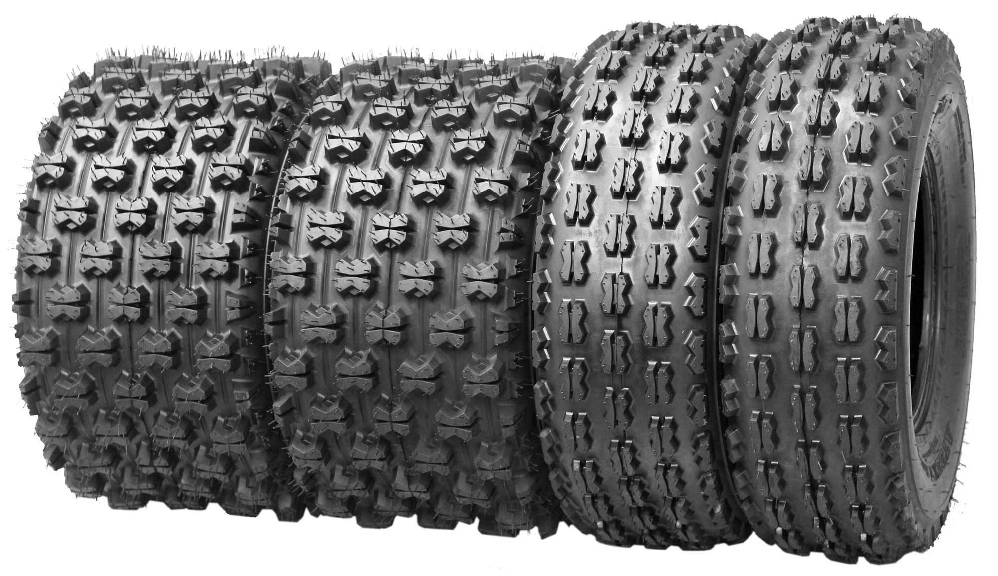Set of 4 New Sport ATV Tires 22x7-10 Front & 22x10-10 Rear /4PR - 10077/10089