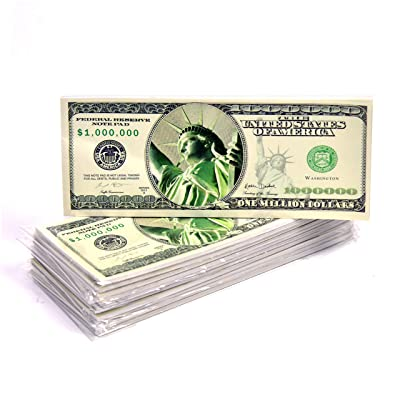 "Large Size Million Dollar Bill Notebooks 8"" x 3"" (Pack of 12) 