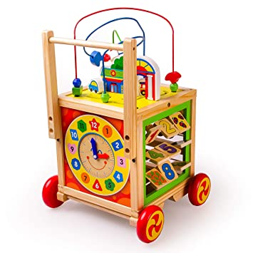 cce309bef28025 HH Lauflernwagen aus Holz für Babys ab 1 Jahr