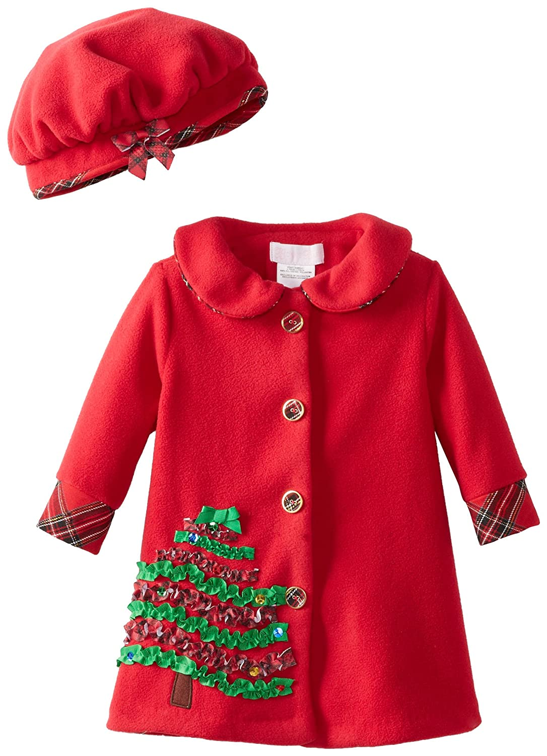 Amazon.com: Bonnie Baby Baby-Girls Infant Christmas Tree Applique ...