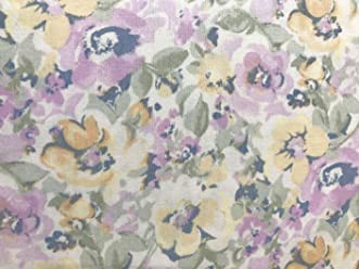 Lauren Ralph Lauren King Size Sheet Set Floral Watercolors Botanical Lavender Yellow Off White 100%