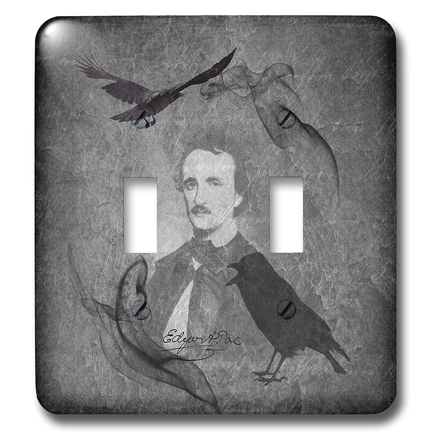3dRose Lucia - Famous People, Gothic - Showing E  A  Poe With His