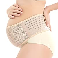 Maternity Support Belt Breathable Pregnancy Belly Band Abdominal Binder Adjustable Back/Pelvic Support- XL