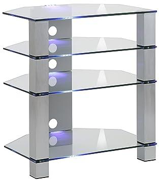 Maja Möbel Tv Rack Glas Metall Alu Klarglas 7000 X 5000 X 7700