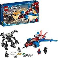 LEGO Super Heroes 76150 Spiderjet vs. Venom Mech Building Kit (371 Pieces)