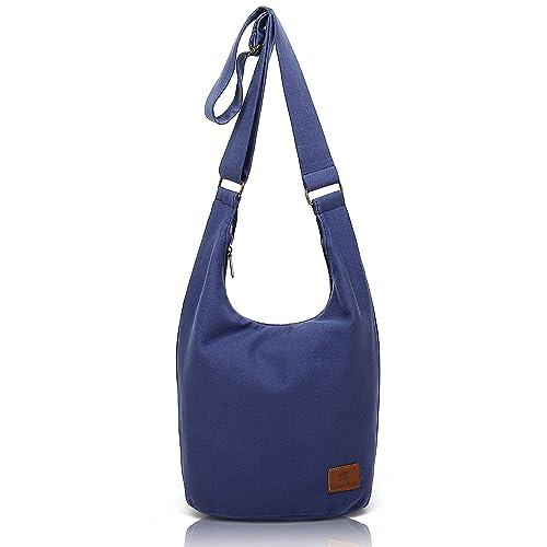 947b7c61e97e Amazon.com  Hippie Crossbody Bag Thai Top Zip Hobo Sling Bag Cotton  Jacquard cloth Handmade Bags (Blue)  Shoes
