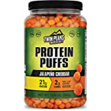 Twin Peaks Low Carb, Keto Friendly Protein Puffs, Jalapeno Cheddar (300g, 21g Protein, 2g Carbs)