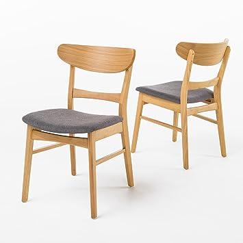 Helen Mid Century Modern Dining Chair (Set Of 2) (Dark Grey W/