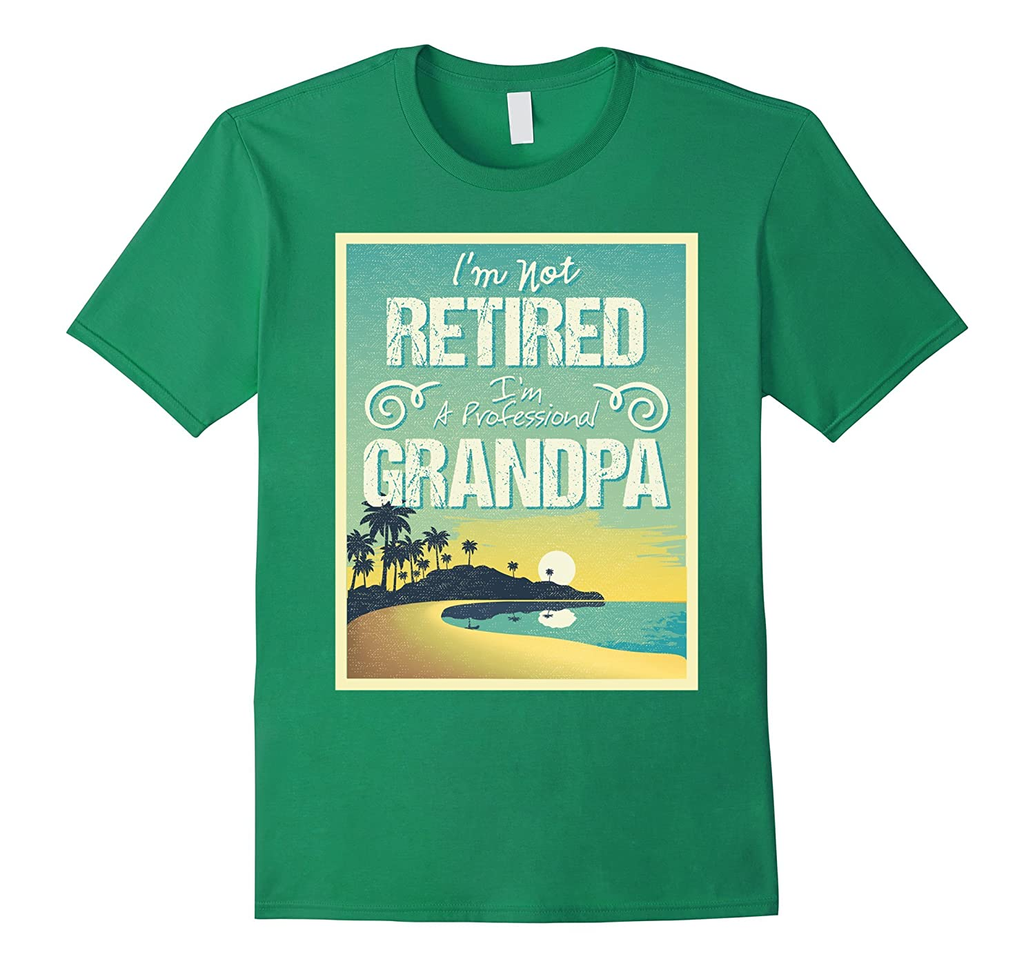 Mens IM NOT RETIRED IM A PROFESSIONAL GRANDPA FUNNY T SHIRT-PL