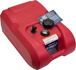 6-Gallon Portable Marine Boat Fuel Tank with Gauge, Red