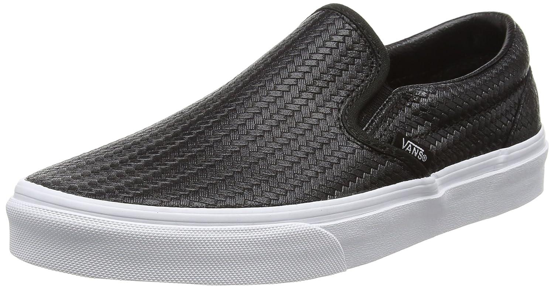 Vans Classic Slip-on Unisex-Erwachsene Sneakers  36.5 EU|Schwarz (Embossed Weave/Black/True White)