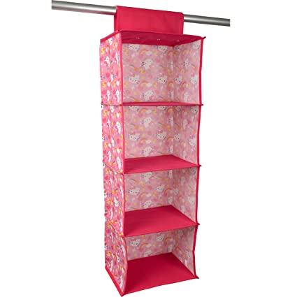 Hello Kitty Closet Rod Hanging Shelf Organizer   Four Shelf Hanging Closet  Organizer U2013 Closet Storage