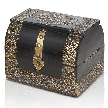 Ligero mini Piraten Truhe Schatzkiste Holz leicht Box Schatulle Schmuckkasten