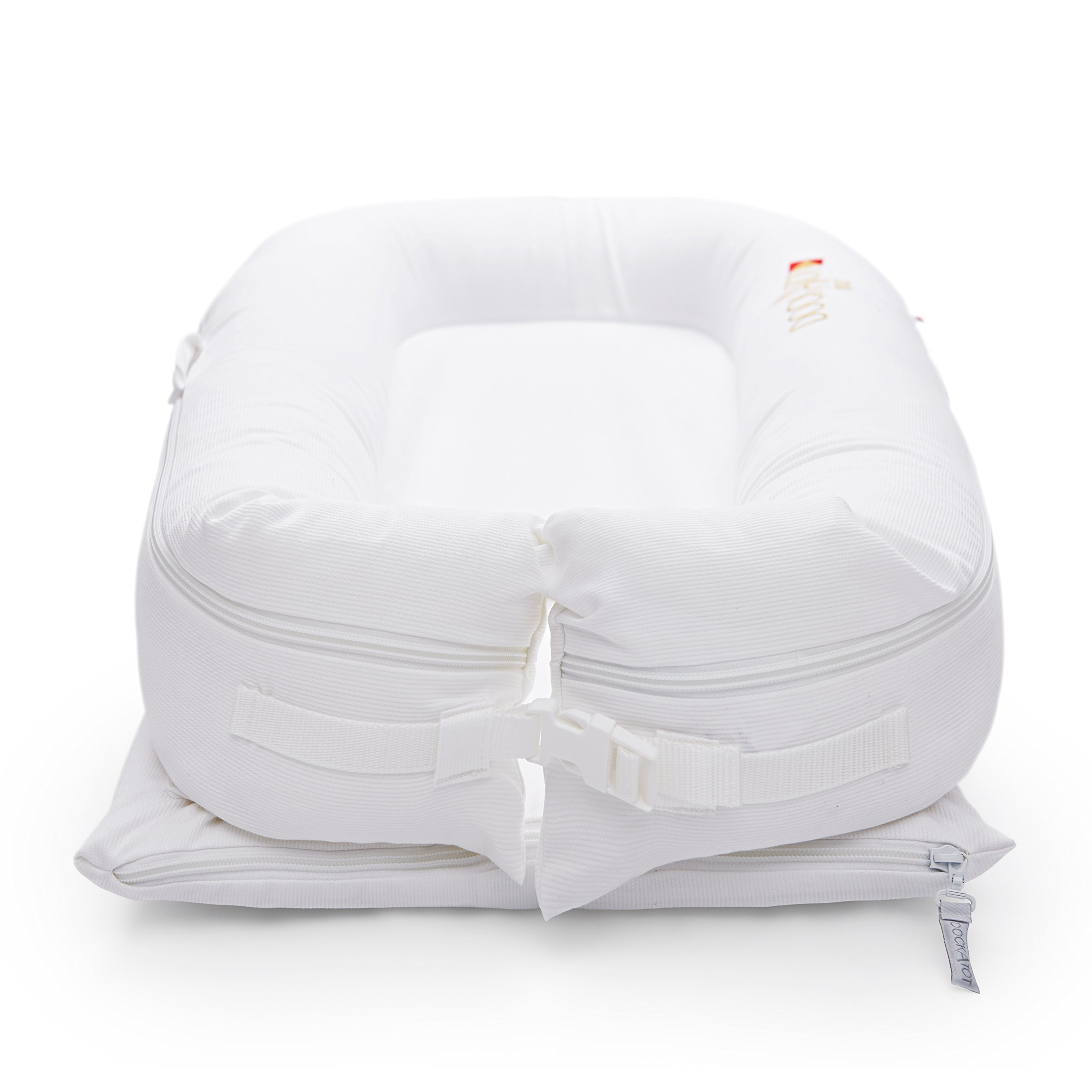DockATot Deluxe+ Dock (Pristine White) - The All in One Baby Lounger - Perfect for Co Sleeping - Suitable from 0-8 Months (Pristine White) by DockATot (Image #3)