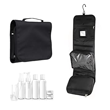 cd272231a93f Hanging wash Bag with 100mL Travel Set and Mirror by Nomalite ...