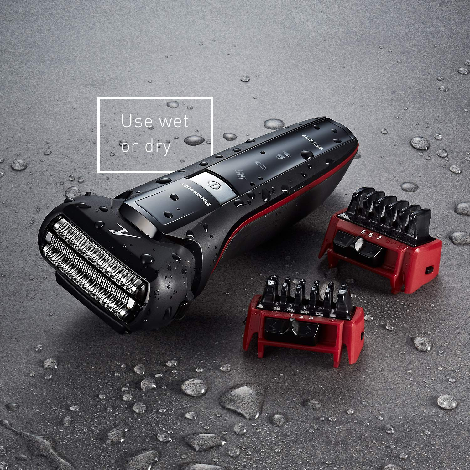 Panasonic Hybrid Wet Dry Shaver, Trimmer & Detailer with Two Adjustable Trim
