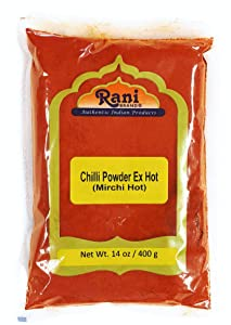 Rani Extra Hot Chilli Powder Indian Spice 400g (14oz) ~ All Natural, No Color added, Gluten Free Ingredients | Vegan | NON-GMO | No Salt or fillers