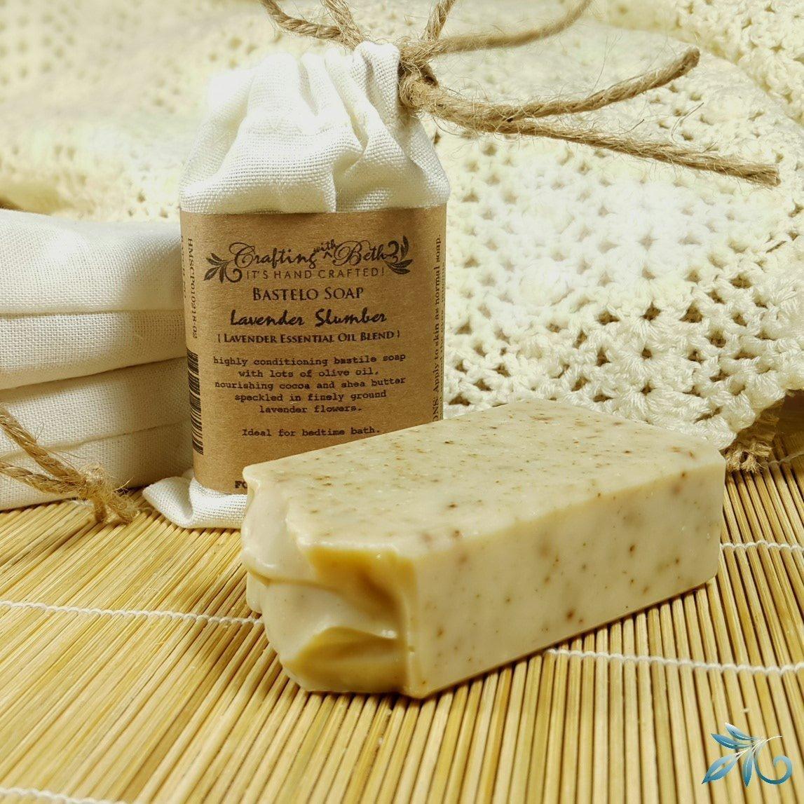 Handmade Bastile Soap with Relaxing Lavender - Lavender Slumber