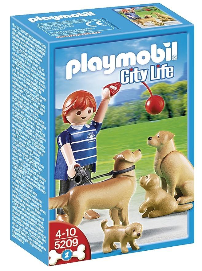 Playmobil - Golden Retrievers con cachorros, set de juego (5209): Amazon.es: Juguetes y juegos