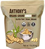 Anthony's Organic Ground Ginger Root, 1 lb, Gluten Free, Non GMO, Keto Friendly