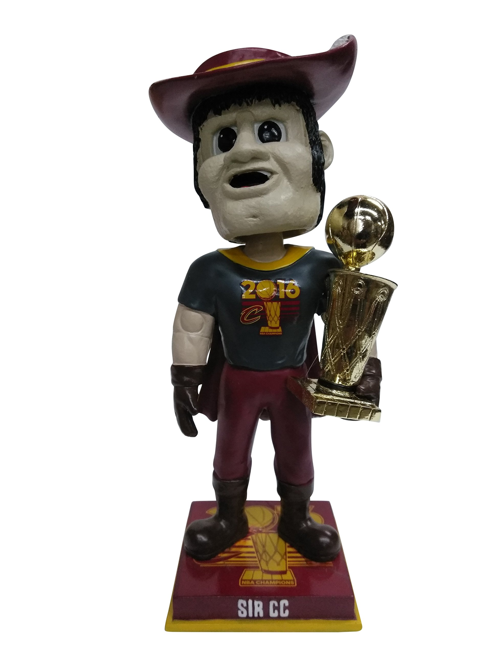 Sir CC Cleveland Cavaliers 2016 NBA Champions Mascot Special Edition Championship T-Shirt Bobblehead Bobble head - Individually Numbered to 216