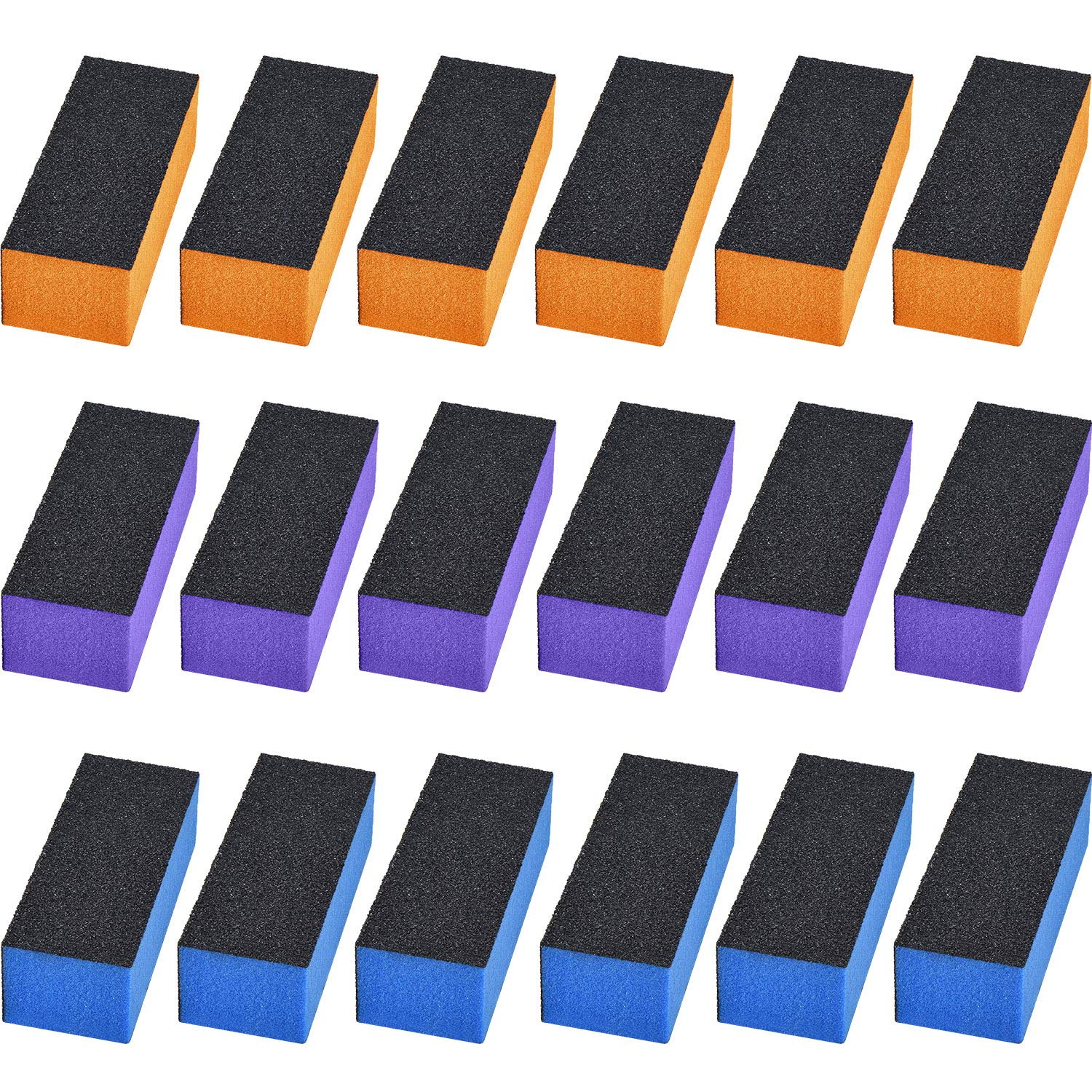 18 Pieces Nail Buffer Block Sanding Buffing Block Nail Files Buffer for Nail Art Tool by Hicarer