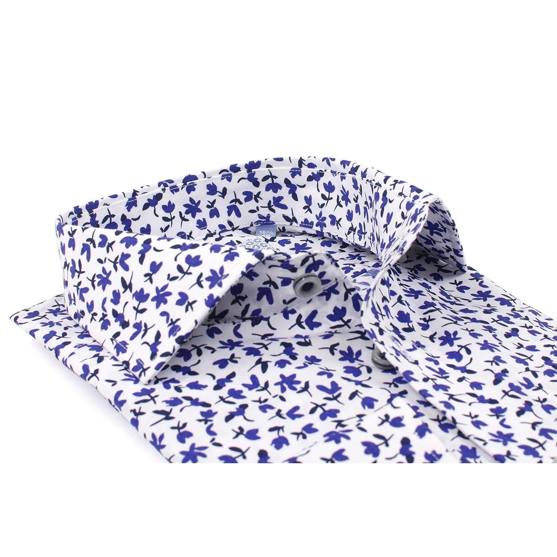 Tresanti White Mens Shirt with Stylistic Flower Print TCSHCC030A