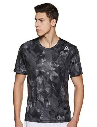 3025426f Reebok Men's Solid Regular Fit T-Shirt: Amazon.in: Clothing ...