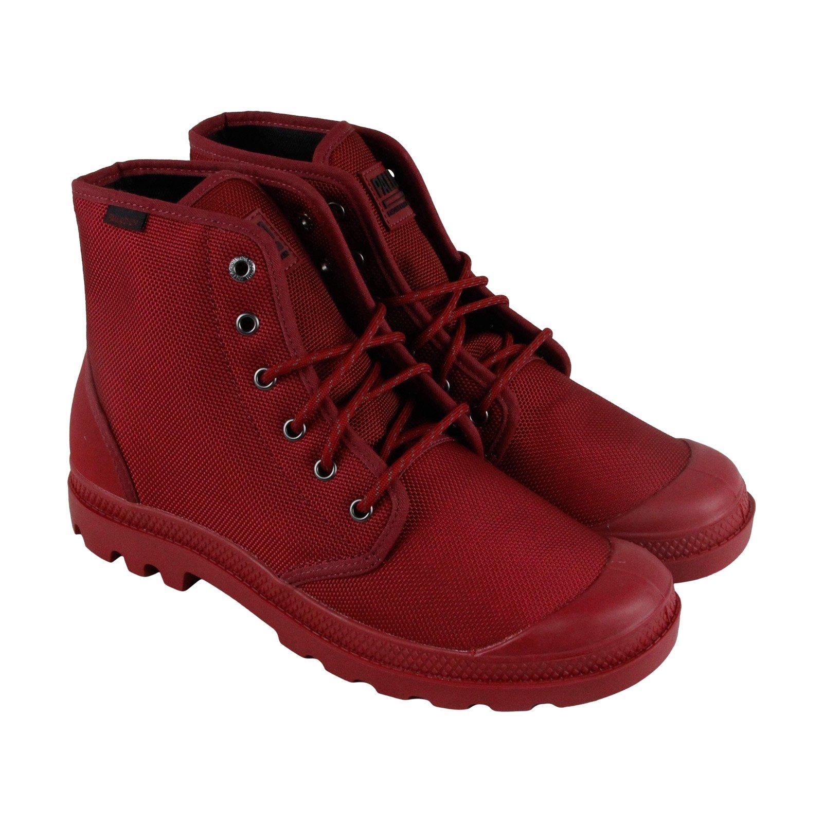 Palladium Pampa Hi Originale Mens Red Nylon Casual Dress Boots Shoes 14
