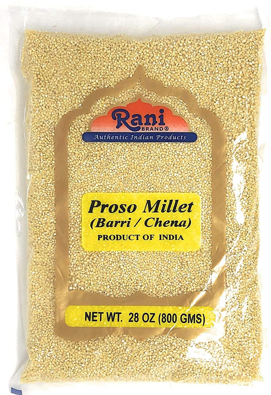 Rani Proso Millet (Panicum Millaceum) Whole Ancient Grain Seeds 28oz (800g) ~ All Natural | Gluten Free Ingredients | NON-GMO | Vegan | Indian Origin | Barri / Chena / Variga / Baragu