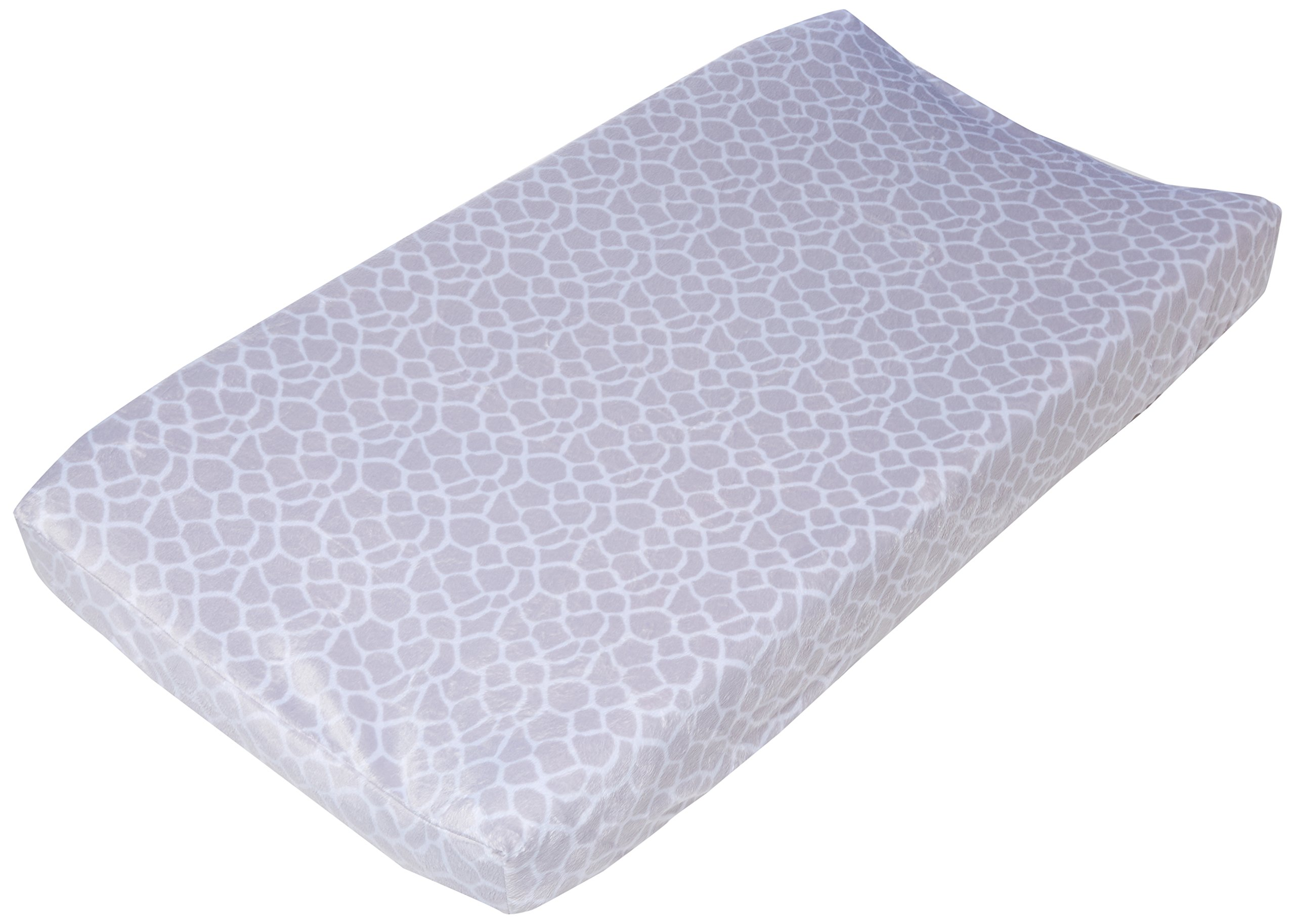 Just Born Animal Kingdom Changing Pad Cover Giraffe Print, Grey