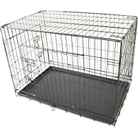 """36"""" Large Pet Dog Crate Metal Folding Cage Portable Kennel House Training Puppy Kitten Cat Rabbit"""