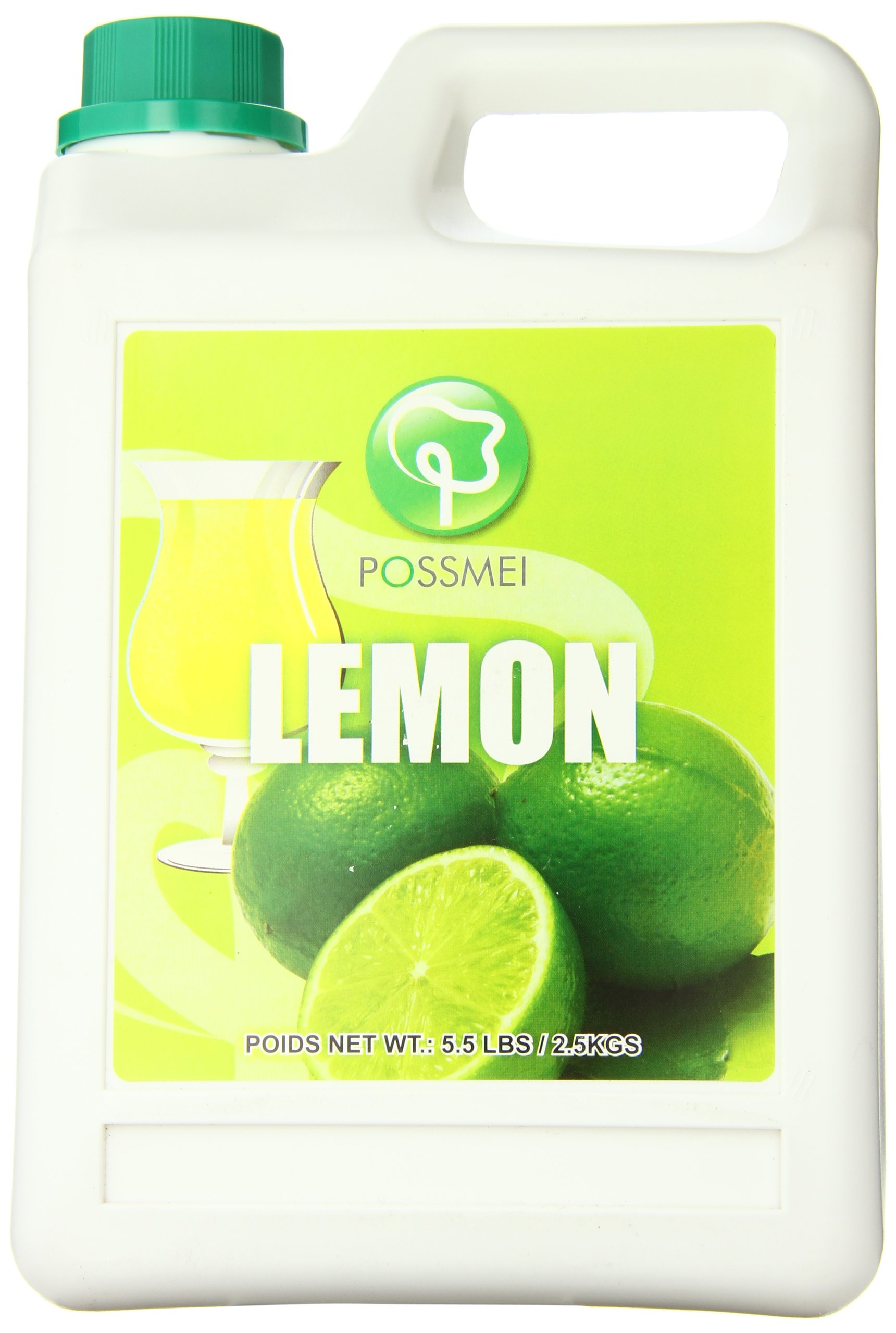 Possmei Flavored Syrup, Lemon, 5.5 Pound