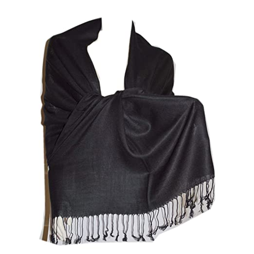 aaeedb22b New Best Soft Pashmina Shawl Scarf Wrap Stole (black) at Amazon ...