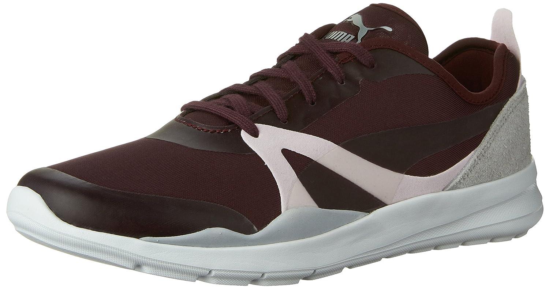 PUMA Women's Duplex Evo Elemental Running Shoe Winetasting/Glacier Gray 11 M US 36130402