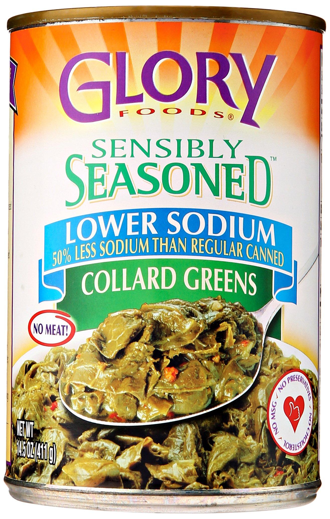 McCall Farms Glory Foods Sensibly Seasoned Lower Sodium Collard Greens, 14.5 oz by McCall Farms