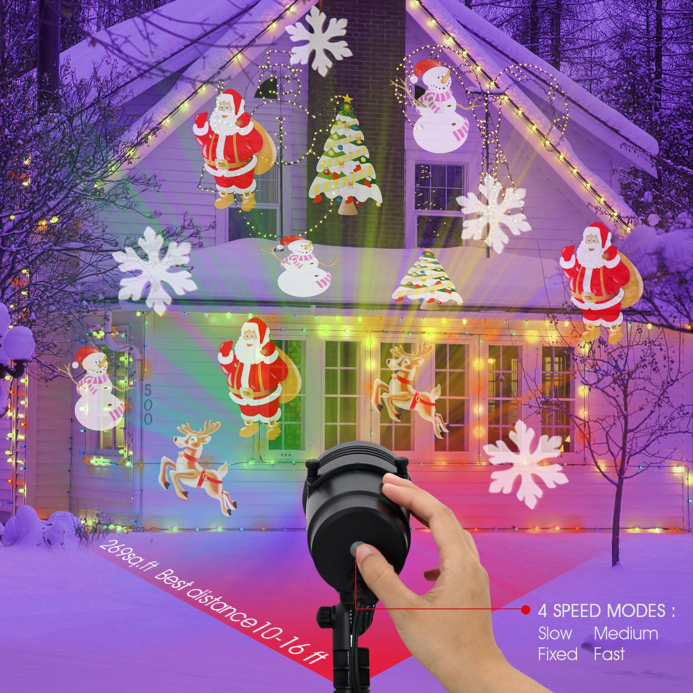 Diateklity LED Projector Light House Garden Lighting Show with 14 Festive Lights Designs for Halloween, Christmas, Waterproof & Heavy-Duty by Diateklity (Image #9)