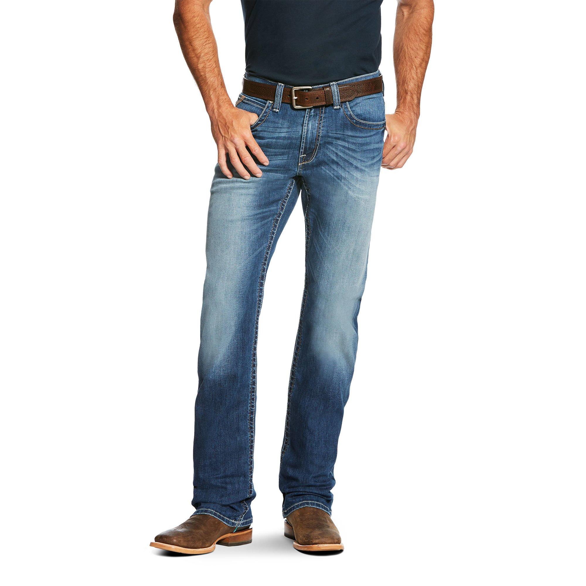 Ariat Men's M4 Low Rise Boot Cut Jean, Flex Stretch Phoenix, 31X32
