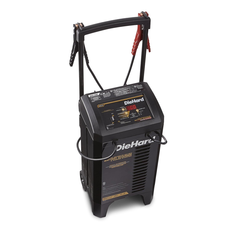 Amazon.com: DieHard 71341 Gold Smart Wheel Battery Charger & Maintainer  6/12 Volt 2&lt&gt6A Charge 50A Boost 250A Jump Starter: Automotive