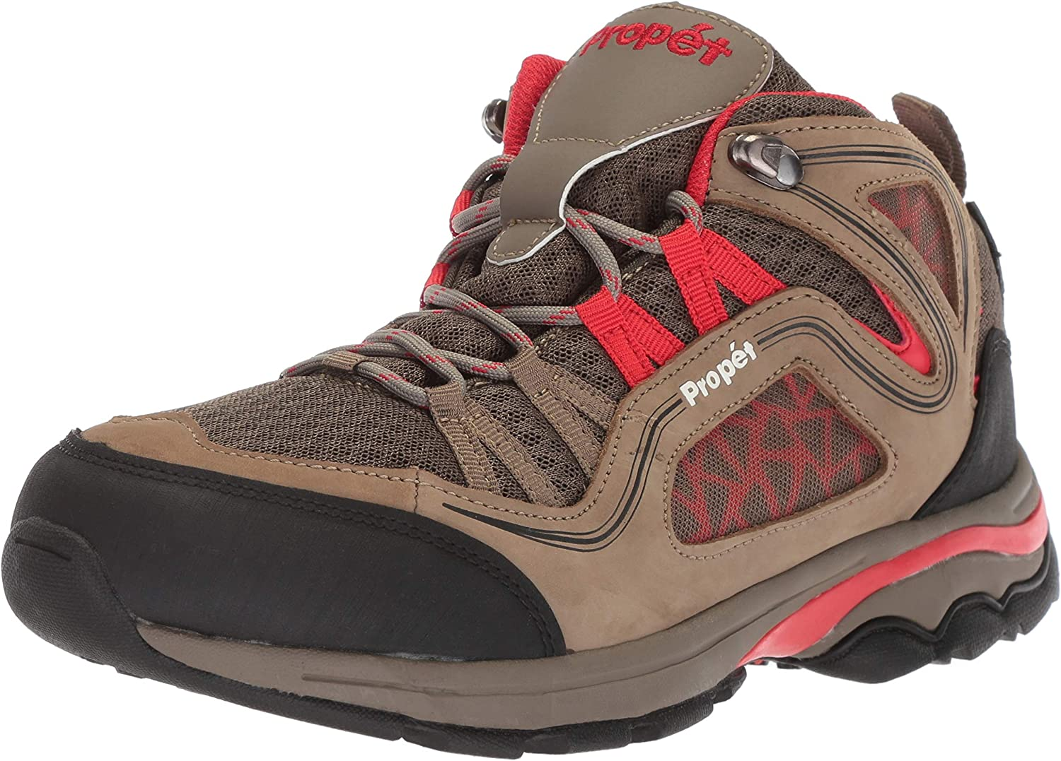 Propet Women s Peak Hiking Boot, Gunsmoke red, 7 Wide