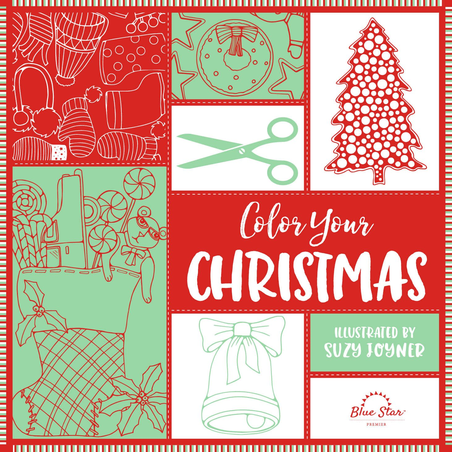 Amazon.com: Color Your Christmas: A Crafty Christmas Adult Coloring ...