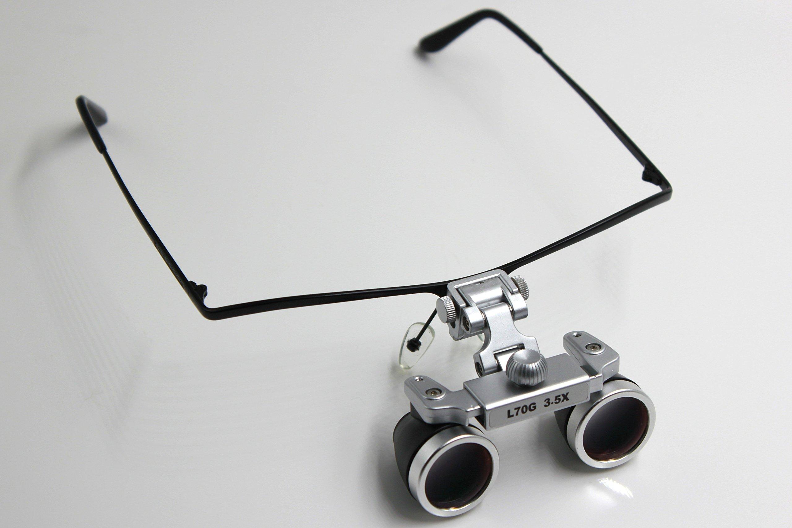NORTHOPE Best Optics High-Definition Waterproof L70G 3.5X 420mm Surgical Medical Dental Binocular Loupes with Half Frame