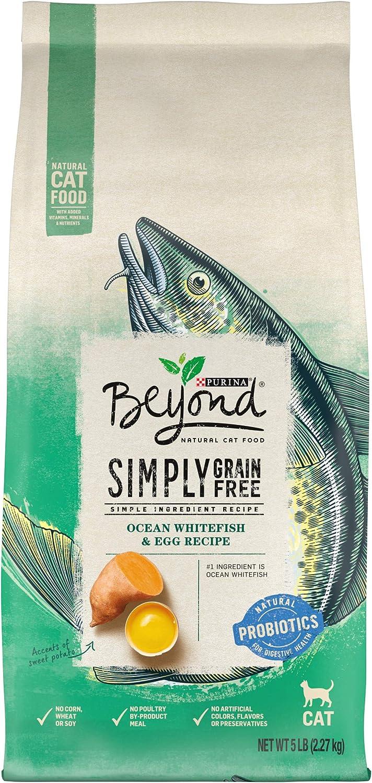 Purina Beyond Grain Free, Natural Dry Cat Food, Simply Grain Free Ocean Whitefish & Egg Recipe - 5 lb. Bag