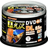 DO-MUオリジナル 1回記録用 DVD+R DL 8.5GB 耐水・光沢・写真画質レーベル DMDR85WS50 (データ用・片面2層・2.4-8倍速・50枚)