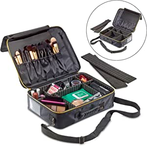 1790 Large Makeup Organizer - Travel Cosmetic Bag Lightweight - Electronics Travel Organizer - Adjustable Dividers - Lock-Friendly Zipper - 3 Distinct Sizes (Large)