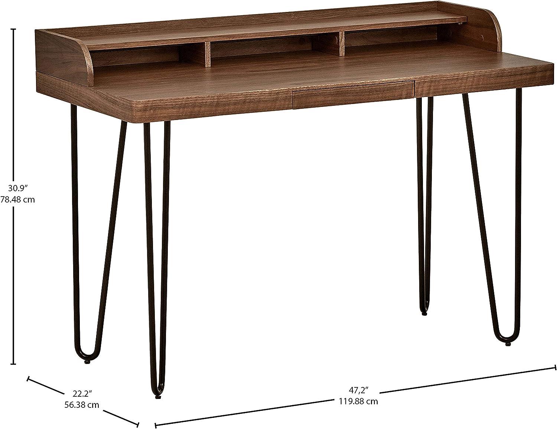 Marca Amazon - Rivet - Escritorio moderno de madera y metal con ...