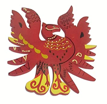 Buy feng shui wooden red phoenix bird size 6 for fame feng shui wooden red phoenix bird size 6quot for fame reputation recognition voltagebd Choice Image